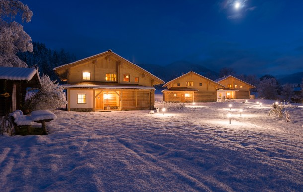 Wagrain im Winter mit Lehenriedl Chalets & Appartements